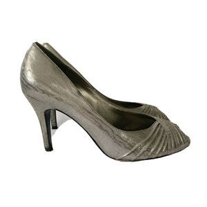 Adrianna Papell Boutique Silver Leather Heels